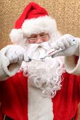 Santa Claus Tooth Brushing. Santa shows you how to brush your teeth. Santa says Clean Teeth and a Ch poster