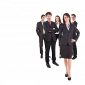 Group of Business People, isoliert auf weiss