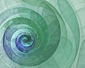 Abstract Green Spiral