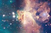 Universe Scene With Stars And Galaxies In Deep Space Showing The Beauty Of Space Exploration. Elemen poster