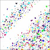 Confetti. Colorful Confetti On White Background. Holiday Festive Background. Suitable For Postcard B poster