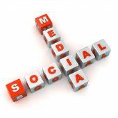 stock photo of scrabble  - A Colourful 3d Rendered Social Media Crossword Illustration - JPG