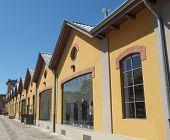stock photo of hamlet  - Villaggio Leumann ancient hamlet in Collegno - JPG