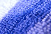 stock photo of villi  - Macro zoomed  two colored blue and white microfiber - JPG