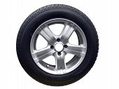 Tire With Aluminum Wheel Rim