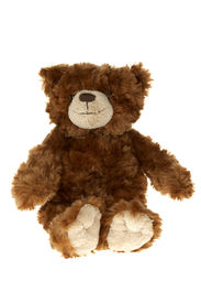 image of stuffed animals  - brown teddy bear on a white background - JPG