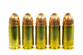 picture of hollow point  - Group of bullets isolated on white background - JPG