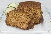 picture of ginger bread  - Vegetarian cake made of zucchini ginger and lemon peel - JPG