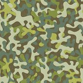 stock photo of camoflage  - Camouflage seamless print - JPG