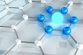 stock photo of graphene  - Material Structure Link Concept - JPG