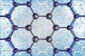 image of graphene  - Molecular Structure Chemical Concept Illustration - JPG