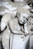 picture of genova  - One of the many sculptures located in the cemetery of Staglieno Genova - JPG