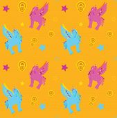 Unicorn Pegasus seamless pattern
