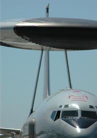 stock photo of awacs  - Detail of a military AWACS radar plane - JPG