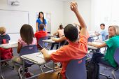 picture of ten years old  - Female High School Teacher Taking Class - JPG