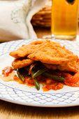 pic of wieners  - Wiener Schnitzel with vegetables - JPG