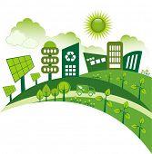 picture of truck farm  - Green modern city living concept - JPG