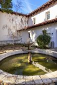 stock photo of anjou  - Mission San Luis Obispo de Tolosa Courtyard Fountain San Luis Obispo California - JPG