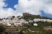 image of revelation  - The Chora and Saint John Theologos monastery at Patmos island in Greece - JPG