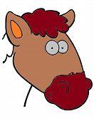 pic of cow head  - vector cartoon head of a cow coloring - JPG