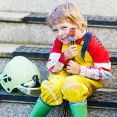 stock photo of firemen  - Creative leisure for kids - JPG