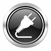 stock photo of electricity  - plug icon - JPG