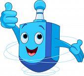picture of dreidel  - Cute Dreidel Character wish you a Happy Hanukkah - JPG