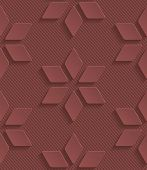 stock photo of marsala  - Marsala color perforated paper with cut out effect - JPG