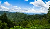 picture of gap  - The Newfound Gap overlook straddles the North Carolina and Tennessee state line and is one of the most popular tourist stops in the Great Smoky Mountains National Park - JPG