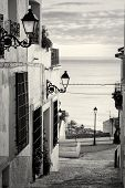 picture of costa blanca  - Charming narrow old town street in Altea Costa Blanca Spain - JPG