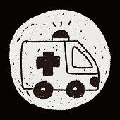 picture of ambulance  - Ambulance Doodle Drawing - JPG