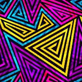 pic of psychedelic  - psychedelic spiral seamless pattern  - JPG