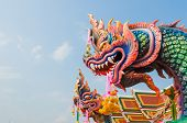 picture of chums  - the statue of King of Nagas at  - JPG