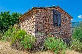 picture of deserted island  - Old house near the village Vourliotes on aegean island Samos - JPG