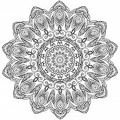 stock photo of kaleidoscope  - Ornament color card with mandala - JPG