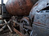 pic of locomotive  - View at the old locomotive from Havana Cuba - JPG