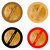 image of wheat-free  - Four stickers for wheat free products in white background - JPG