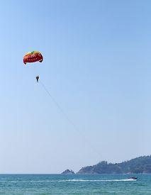 picture of parasailing  - Parasailing at Patong Beach in Phuket  - JPG