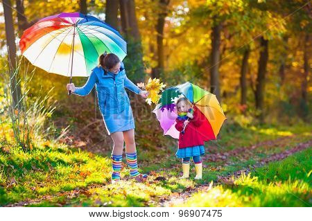 ea990fd68d8e Mother And Child Walking In Autumn Park Poster ID 96907475