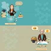 stock photo of professor  - Science and education - JPG