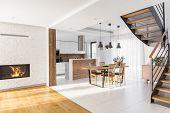 Modern Luxury Open Plan Apartment poster