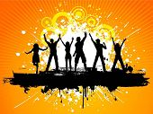 stock photo of party people  - Grunge party people - JPG