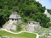 Постер, плакат: Майя Паленке руины майя памятников Мексики Чьяпас