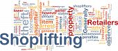 picture of shoplifting  - Background concept wordcloud illustration of shoplifting - JPG