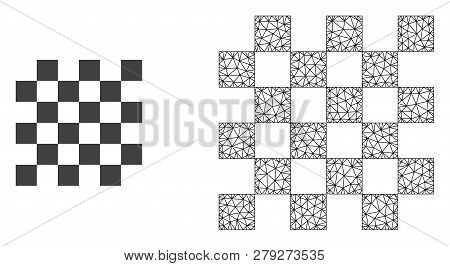 Polygonal Mesh Chess Board And