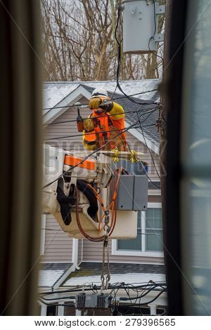 Electric Power Line Crews Make