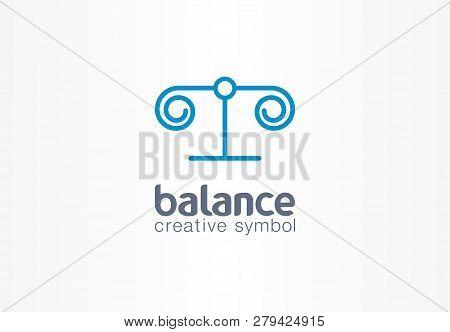 Balance Justice Creative Symbol Concept