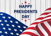 Happy Presidents Day Background Template.  United States Happy Presidents Day - Poster With Flag Of  poster