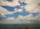 Cloud Sky Beauty In Nature Tranquility Scenics Tranquil Scene Water No People Day Sea Non-urban Hori poster