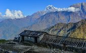 Beautiful Snow Peaks Of Annapurna Range poster
